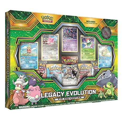 80db753f8 Amazon.com: Pokemon Cards TCG: Legacy Evolution Pin Collection Card Game:  Toys & Games