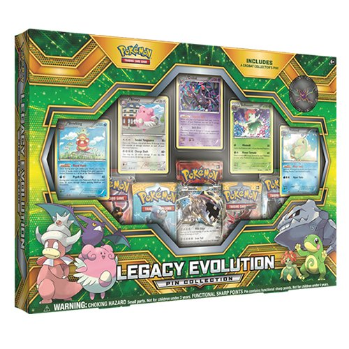 Pokemon Cards TCG: Legacy Evolution Pin Collection Card Game