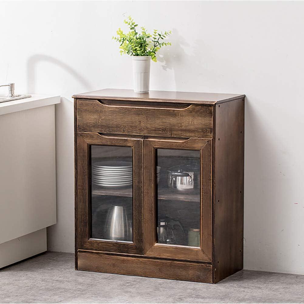 HaoHao Armario alacena aparador de Cocina con 2 Puertas, Mueble Auxiliar Mesa Cocina con un cajón y Dos Puertas, para Almacenamiento de menaje,Brown