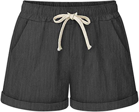 Elonglin - Pantalones cortos para mujer, estilo casual, verano ...
