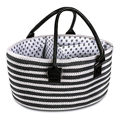 YouJia Baby Rope Diaper Caddy-Nursery Storage Bin for Diapers- Large Portable Car Travel Organizer ()