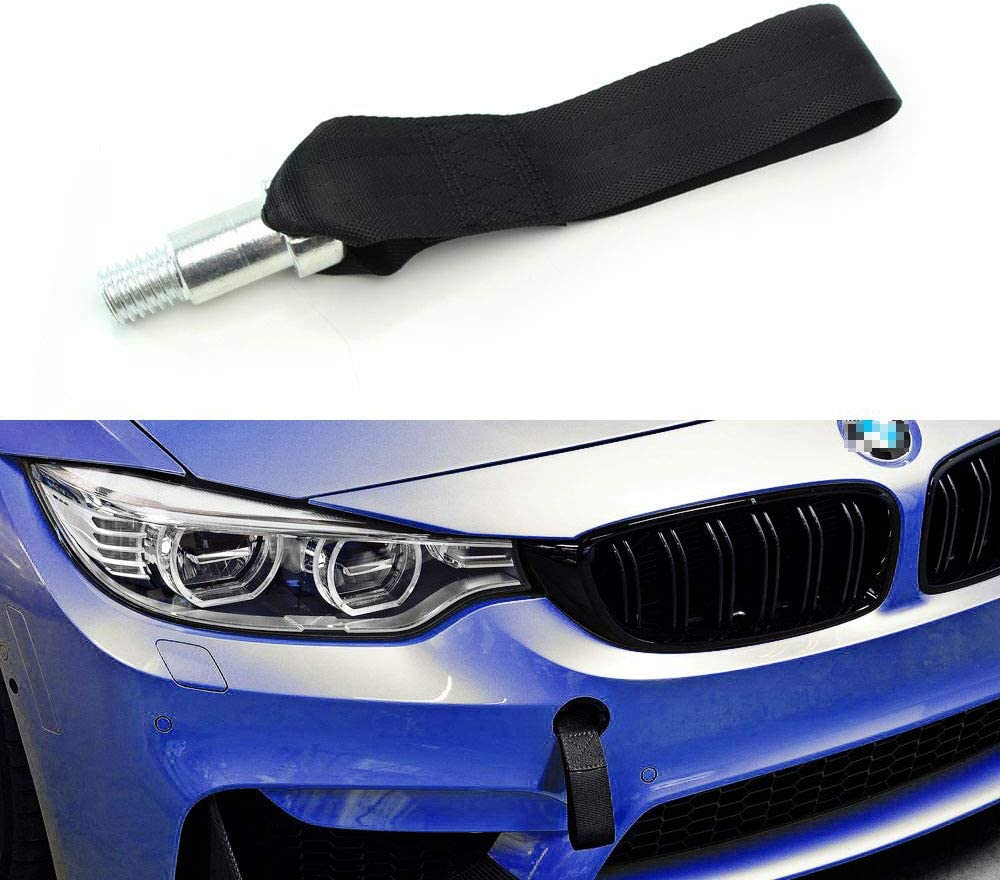 Trailer Ring Tow Towing Hook Strap Racing for BMW T2 E46 E81 E30 E36 E91 CY Blue