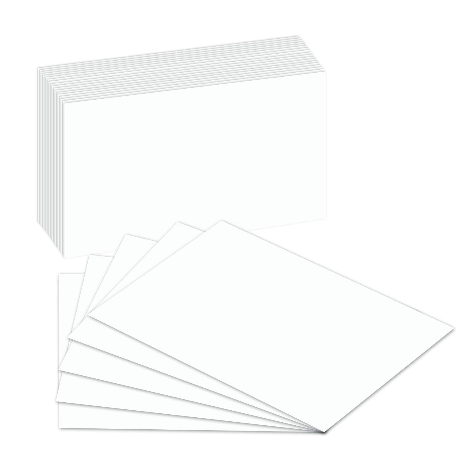 Extra Thick  Heavy Blank Index Cards, On 14pt. 100lb Heavyweight Thick White Cover Stock. 100 Cards Per Pack (8 x 10)