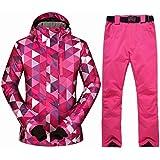 Amazon.com: Chaqueta de esquí y pantalón de esquí para mujer ...