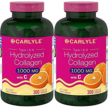 Carlyle Hydrolyzed Collagen 1000 mg 600 Caplets