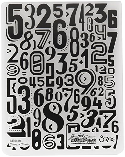 Sizzix 661827 Numeric Texture Fades Embossing -