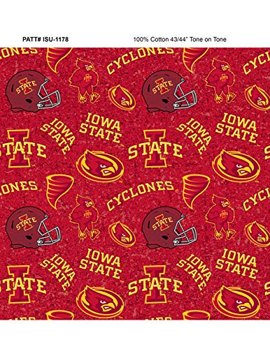 Iowa State Cotton Fabric with New Tone ON Tone Design Newest Pattern