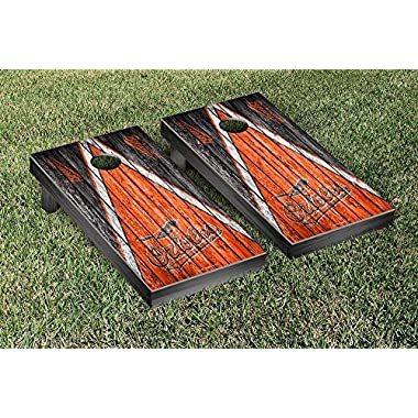 Baltimore Orioles MLB Baseball Cornhole Game Set Triangle Weathered Version