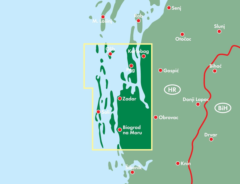 Sheet 1 Dalmatian Coast Kornati Islands Zadar FreytagBerndt
