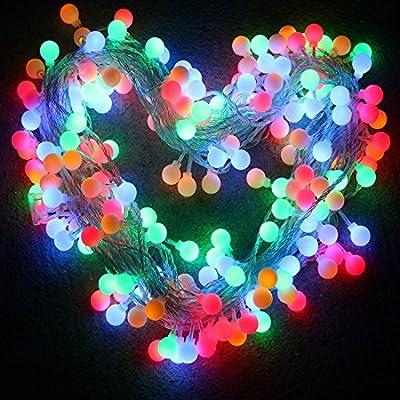 Globe String Lights, Arespark Led Christmas Light, 33Feet 100 LED Ball Waterproof Fairy Starry Light for Christmas, Wedding, Party- MultiColor