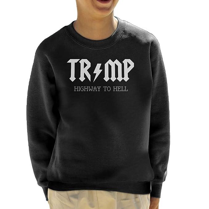 Trump Highway To Hell AC DC Kids Sweatshirt
