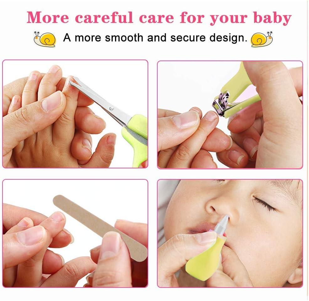 8 piezas//juego de reci/én nacido beb/é ni/ños Cuidado Set rosa Set para el cuidado del beb/é u/ñas pelo salud Cuidado Term/ómetro Pincel Kit