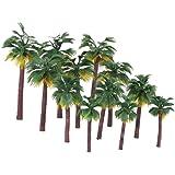 BESPORTBLE 12Pcs Modelo Diorama Modelos Mistos De Palmeira de Coco Modelo de Árvores para O Modelo de Trem Ferroviário Arquit