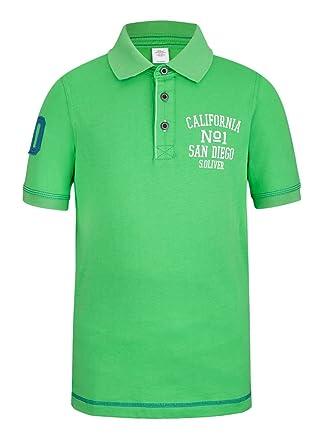 s.Oliver - Polo para niño, Talla 14 años (162 cm), Color Verde ...