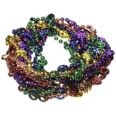 Peace Sign Beads (asstd B/G/GD/O/PL/R)    (6/Card): Kitchen & Dining