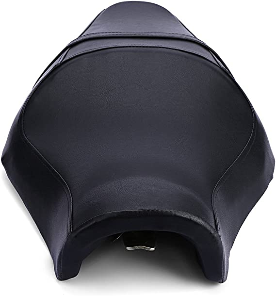 Ambienceo Motorcycle Rear Passenger Seat Black Leather Bobber Seat Pillion for Harley Davidson Sporster Iron 883L 883XL 883C 883N 1200N 2007-2013