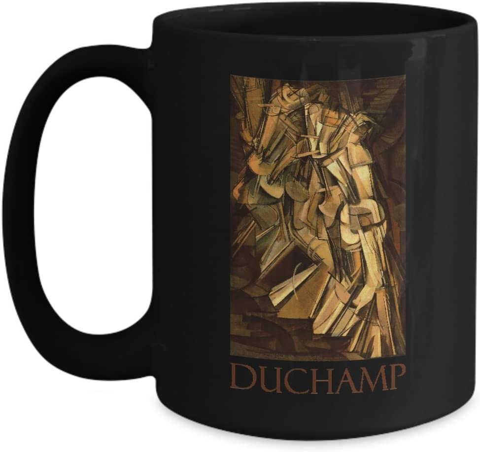 Amazon Com Nude Descending A Staircase No 2 By Marcel Duchamp Ceramic Coffee Mug Kitchen Dining