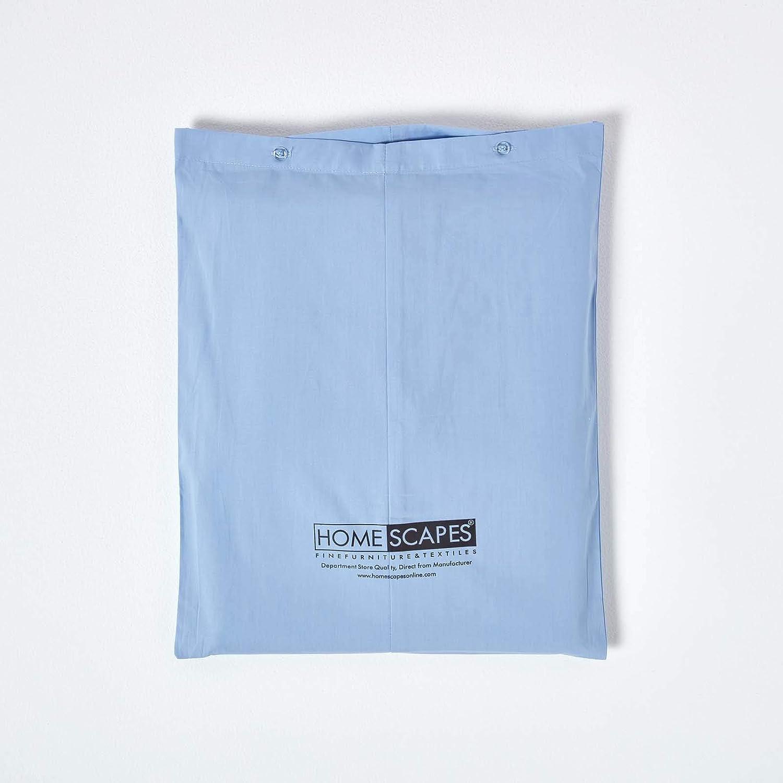 Homescapes Bettlaken Betttuch Haustuch 275 x 275 cm aus 100/% reiner /ägyptischer Baumwolle Fadendichte 200 blau