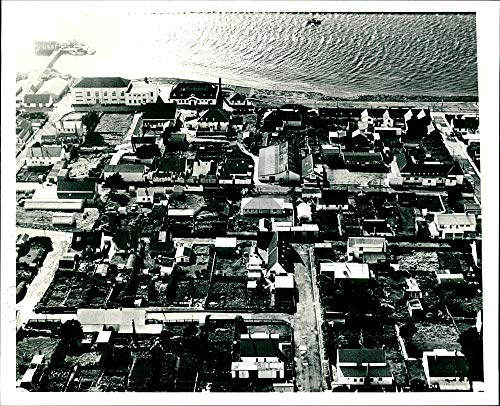 (Vintage photo of A view of Port Stanley Falkland Islands.)