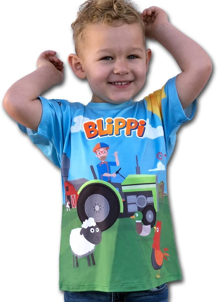 Blippi Official Child Tractor T-Shirt for Kids Size 3T
