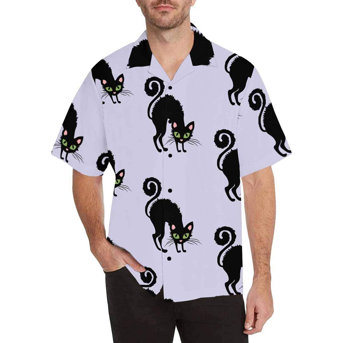 InterestPrint Short Sleeve Cat Shirt Tees Tops T-Shirts for Men