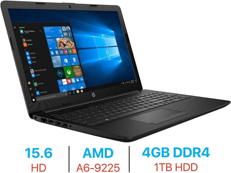 HP Premium 15.6'' HD Display Laptop PC, AMD A6-9225 2.6 GHz, 4GB DDR4 RAM, 1TB Hard Drive USB 3.1, AMD Radeon Graphics, WiFi, HDMI, Webcam, Bluetooth, Windows 10