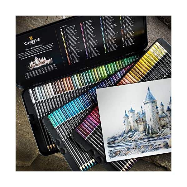 Castle Art Supplies 120 Colored Pencils Set for Adults Artists Professional   Featuring soft series core for expert… 2