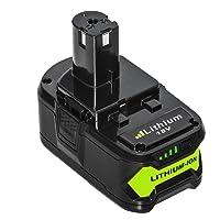 NeBatte P108 18V 5.0Ah packs de Batteries de Remplacement Lithium-ion compatible Ryobi One + P108 avec Indicateur LED