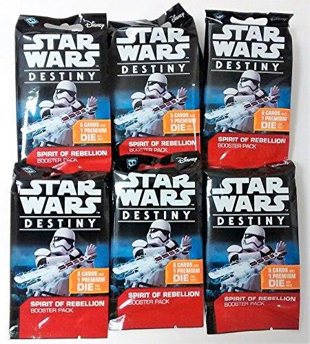 Star Wars Destiny TCG: Spirit of Rebellion Boosters - 6-Pack (Star Wars Destiny Spirit Of The Rebellion)