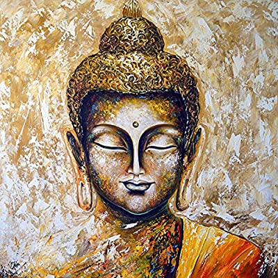 Diy Oil Painting Paint By Number Kit For Adult Kids - Painted Buddha Statue,16X20 Inch: Everything Else