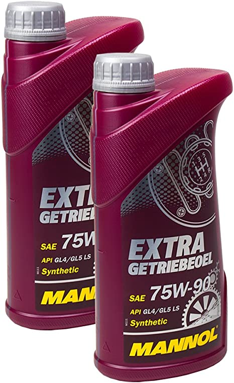2x Mannol Extra Getriebeoel 75 W 90 Manual Transmission Api Gl 4 Mn8103 1 Gl 5 Ls 1l Auto