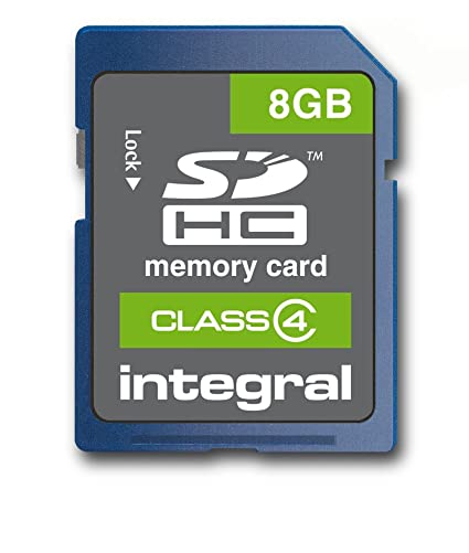 Integral 8GB SDHC Card Class 4 8GB SDHC Memoria Flash - Tarjeta de Memoria (8 GB, SDHC, 4 MB/s, 2.7-3.6, 0-60 °C, 24 mm)