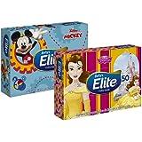 Lenços de Papel Elite Kids Folha Dupla, 50 unidades de 21x14,08 cm