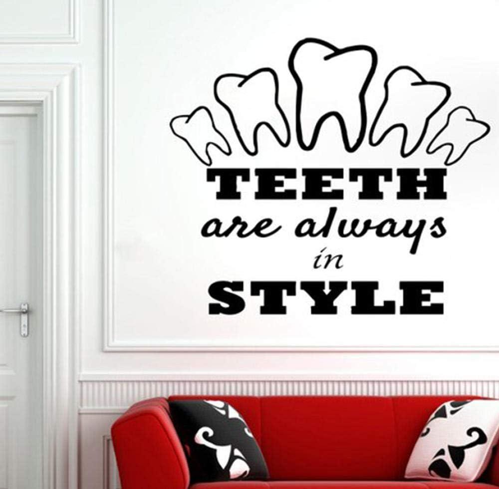 Brush Floss Smile VINYL WALL DECAL BATHROOM DECOR LETTERING Sticker Dentist