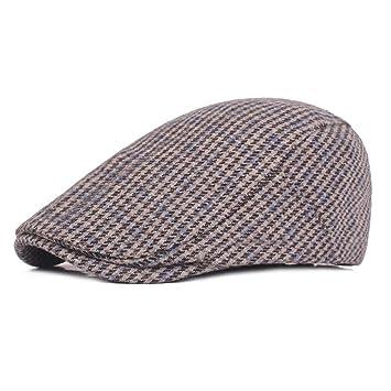 KCJMM-HAT Sombreros Gorras Boinas Simple Flat Cap, Pata de Gallo ...