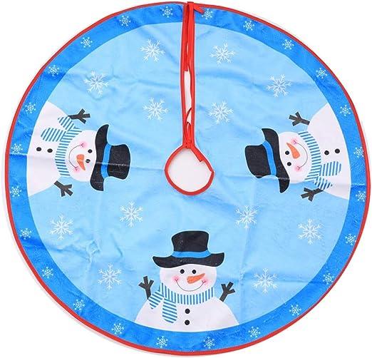 Da.Wa 1X Azul Árbol de Navidad Falda 80cm Manta Decorativa para ...