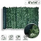 PATIO Paradise 6' x 14' Faux Ivy Privacy Fence Screen Mesh Back-Artificial Leaf Vine Hedge Outdoor Decor-Garden Backyard Decoration Panels Fence Cover