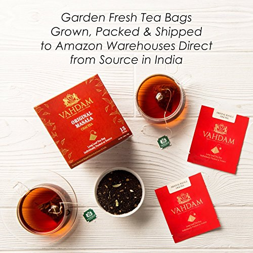 India's Original Masala Chai Tea Bags, 30 TEA BAGS, 100% NATURAL SPICES & NO ADDED FLAVOURING - Blended & Packed in India - Black Tea, Cardamom, Cinnamon, Black Pepper & Clove by VAHDAM (Image #6)