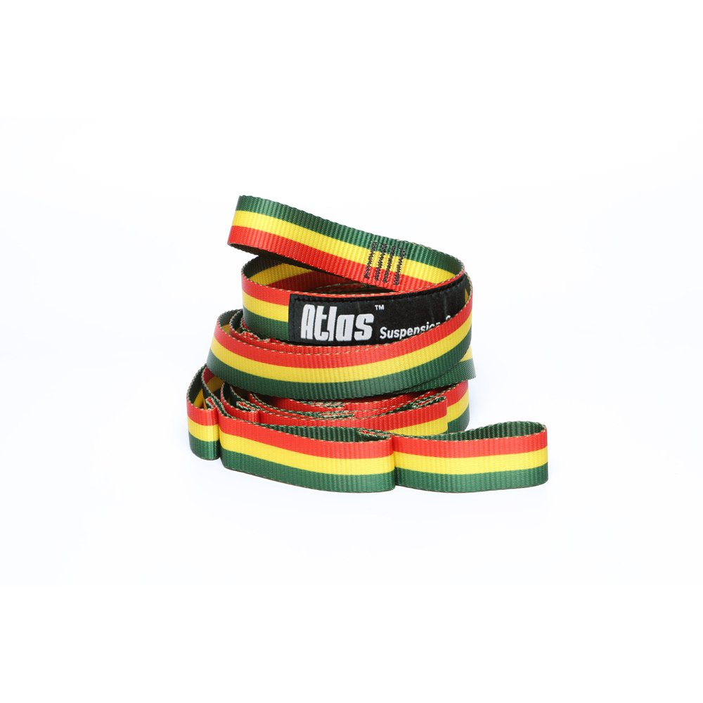 Eagles Nest Outfitters ENO Atlas Chroma Hammock Straps, Suspension System, Rasta by Eagles Nest Outfitters (Image #1)