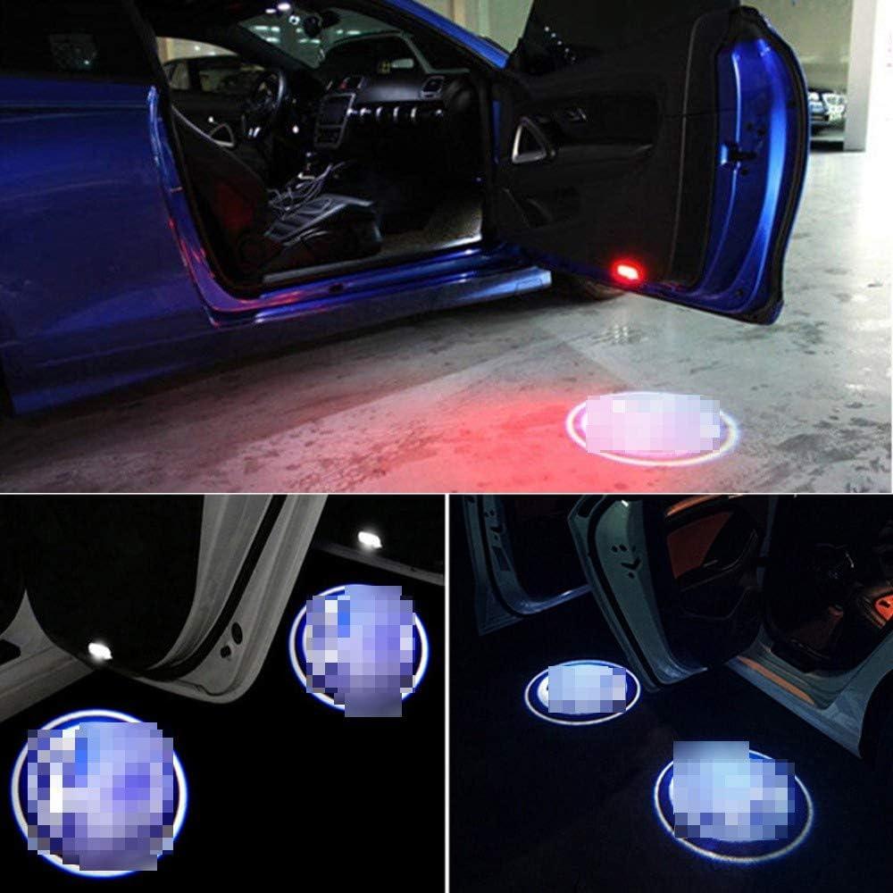 YGXNONO 2 St/ücke Autot/ür Led Projektor Logo Licht Kein Magnet Drahtlose Lampe Willkommen Ghost Shadow Licht