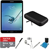 "Samsung Galaxy Tab S2 8.0"" Wi-Fi Tablet (Black/32GB) 64GB Card Bundle includes Galaxy Tab, 64GB MicroSDXC Memory Card, Stylus Pen, Noise Isolation Headphones, 8-Inch Hard EVA Case and Cleaning Kit"