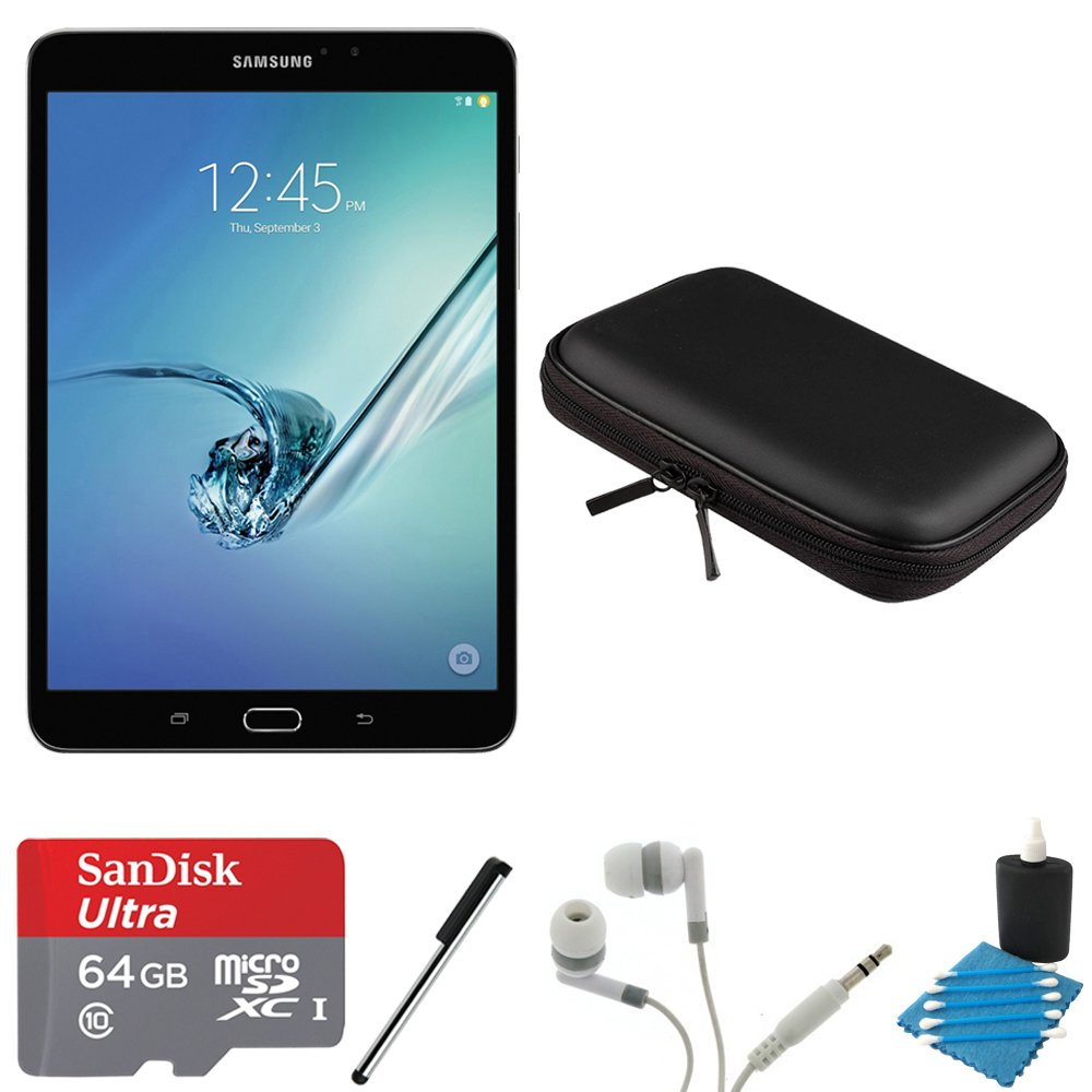 Samsung Galaxy Tab S2 8.0'' Wi-Fi Tablet (Black/32GB) 64GB Card Bundle includes Galaxy Tab, 64GB MicroSDXC Memory Card, Stylus Pen, Noise Isolation Headphones, 8-Inch Hard EVA Case and Cleaning Kit by Samsung