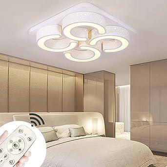 Luz de techo moderna LED Lámpara de techo regulable de 78 vatios Cuadrado Ahorro de energía Salón Dormitorio Corredor Pantalla de acrílico Pasillo ...