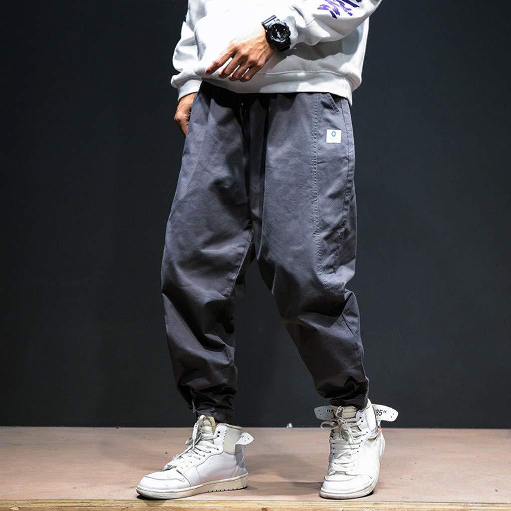 8595cc532a7f7f Dragon868 Pantaloni Uomo Cotone Pantaloni Larghi Comode con Tasche Hip-Hop  Stile Pantaloni Harem Leggere Traspirante: Amazon.it: Abbigliamento