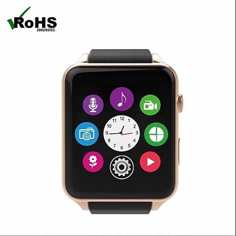 Sim Tarjeta Smart Reloj Pulso Relojes Fitness Tracker Reloj Inteligente con dormir Monitor Cámara Bluetooth Smart