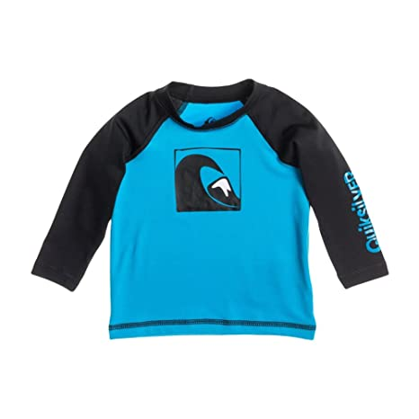 932dcca53c Amazon.com : Quiksilver Baby Rash Guard Main Peak Long Sleeve Ocean Blue  Black, baby-boys : Sports & Outdoors