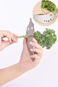 Vegetable Stripper Leaf separation - for Vegetable Juicer Home Creative Pressing Vegetable Stuffing Squeezer for Kale, Chard, Collard Greens