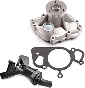 LUJUNTEC Coolant Water Pump Thermostat Fit for 2005-2009 Land Rover LR3 4.4L,2006-2009 Land Rover Range Rover Sport 4.4L Engine Water Pump Water Inlet (Replaces OE AW4124 96181)