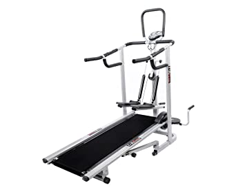 aec739408d Buy Lifeline 4 in 1 Deluxe Manual Treadmill Online at Low Prices in ...