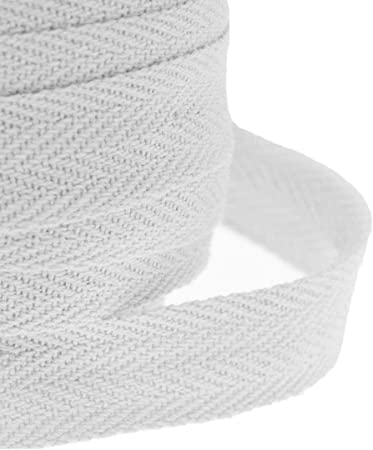 JJ PRIME Cinta de algodón de 25 mm espiguilla para Costura, banderines, Blanco, 10 Metros: Amazon.es: Hogar